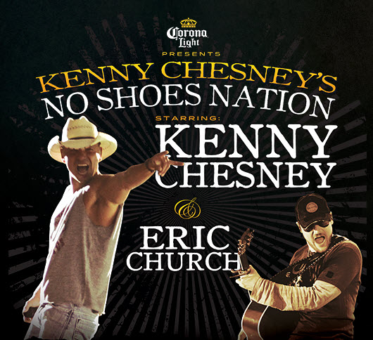 Kenny Chesney No Shoes Nation Tour  Dates