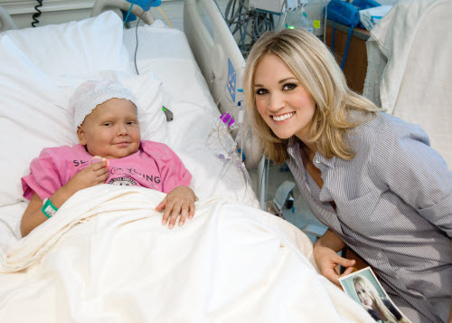 Carrie Underwood Visits St Jude Kids Acountry