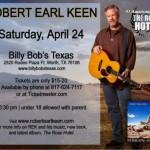 Win Robert Earl Keen Tickets : Billy Bob's Texas : April 24