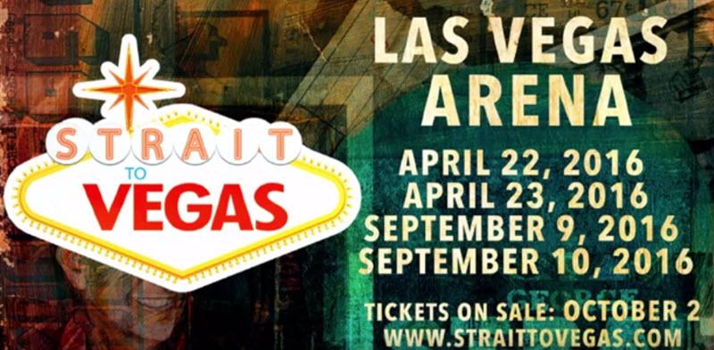 George Strait Announces Strait To Vegas Concerts