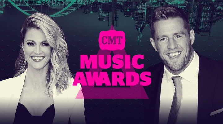 JJ Watt and Erin Andrews To Host CMT Music Awards