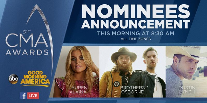 cma awards 2017 nominations