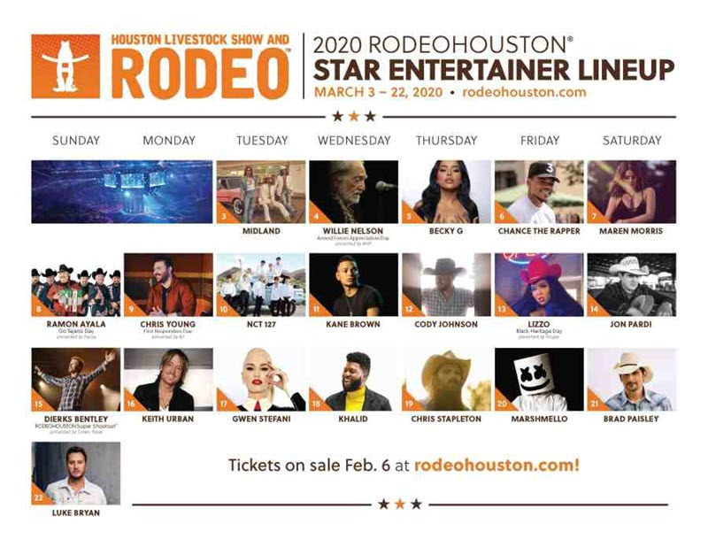 Houston Rodeo lineup