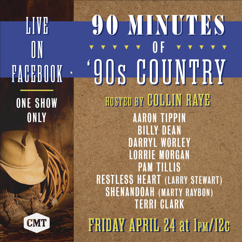 90 Minutes of 90's Country Lineup
